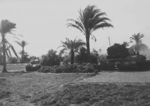 טנקים ישראלים במבואות איסמעיליה 1973