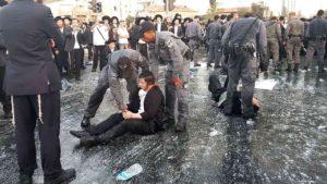 מההפגנות בבירה לפני כחודש