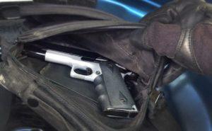 """האקדח שנתפס עם החולייה. צילום: דוברות שב""""כ"""