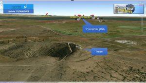 מיקום יחידת השיבוש האירנית מול הר אביטל:
