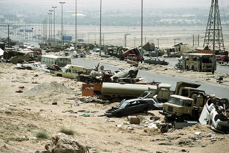 אוטוסטרדת המוות כלי רכב עיראקים הרוסים