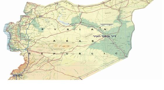 """מפת האזור - דיר א-זור. צילום: דו""""צ"""