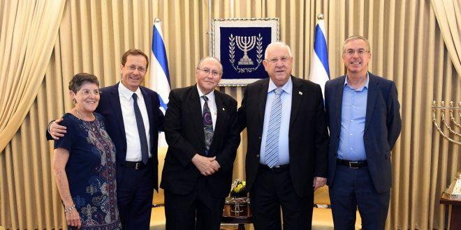 נשיא המדינה נפגש עם זוכה פרס חיים הרצוג אליקים רובינשטיין