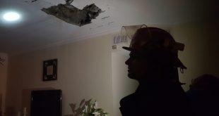 """בית המשפחה שנפגע פגיעה ישירה באשקלון. צילום: כב""""ה נגב"""