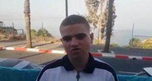 דוד עבדן הנער שהוקף. צילום   צבי סרוסי ישראל ניוז