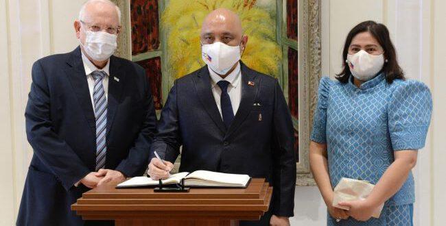 """שגריר אוקראינה בבית הנשיא: """"נפעל לשימור ההיסטוריה היהודית במדינה ולמניעת אנטישמיות וגזענות"""""""